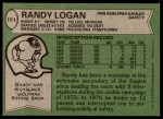 1978 Topps #151  Randy Logan  Back Thumbnail
