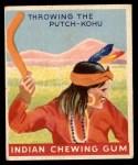 1947 Goudey Indian Gum #91   Throwing Putch-Kohu Front Thumbnail