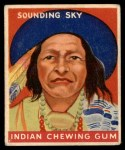 1947 Goudey Indian Gum #76   Sounding Sky Front Thumbnail