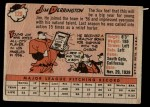 1958 Topps #129  Jim Derrington  Back Thumbnail