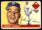 1955 Topps #25  Johnny Podres  Front Thumbnail