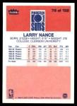 1986 Fleer #78  Larry Nance  Back Thumbnail