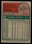 1975 Topps Mini #280  Carl Yastrzemski  Back Thumbnail