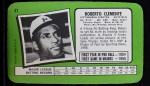 1971 Topps Super #37  Roberto Clemente  Back Thumbnail