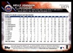 2016 Topps Update #71  Kelly Johnson  Back Thumbnail