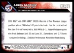 2016 Topps Update #227   -  Aaron Sanchez All-Star Back Thumbnail