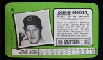 1971 Topps Super #50  Glenn Beckert  Back Thumbnail