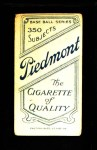 1909 T206  George Perring  Back Thumbnail