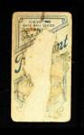 1909 T206 SID Howie Camnitz  Back Thumbnail