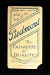 1909 T206 BAT Tom Downey  Back Thumbnail