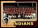 1975 Topps Mini #331   -  Frank Robinson Indians Team Checklist Front Thumbnail