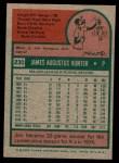 1975 Topps Mini #230  Catfish Hunter  Back Thumbnail