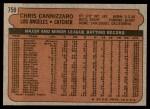 1972 Topps #759  Chris Cannizzaro  Back Thumbnail