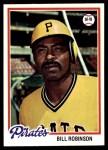 1978 Topps #455  Bill Robinson  Front Thumbnail