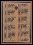 1978 Topps #184   Checklist 2 Back Thumbnail