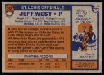 1976 Topps #363  Jeff West   Back Thumbnail