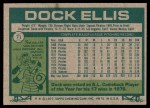 1977 Topps #71  Dock Ellis  Back Thumbnail