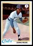 1978 Topps #523  Donnie Moore  Front Thumbnail
