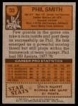 1978 Topps #33  Phil Smith  Back Thumbnail
