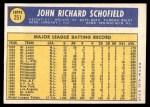 1970 Topps #251  Dick Schofield  Back Thumbnail