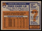 1976 Topps #360  Fred Carr  Back Thumbnail