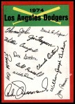 1974 Topps Red Team Checklist   Dodgers Team Checklist Front Thumbnail