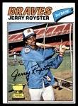 1977 Topps #549  Jerry Royster  Front Thumbnail