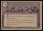 1959 Topps / Bubbles Inc You'll Die Laughing #5   Ma did you call Back Thumbnail