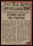 1962 Topps Civil War News #67   Deadly Duel Back Thumbnail