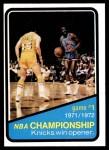 1972 Topps #154   NBA Playoffs - Game #1 Front Thumbnail