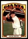 1972 Topps #295  Dick Dietz  Front Thumbnail