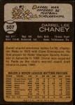 1973 Topps #507  Darrel Chaney  Back Thumbnail