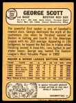 1968 Topps #233  George Scott  Back Thumbnail