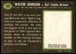 1969 Topps #165  Walter Johnson  Back Thumbnail