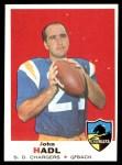 1969 Topps #171  John Hadl  Front Thumbnail