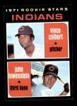 1971 Topps #231   -  Vince Colbert / John Lowenstein Indians Rookies Front Thumbnail
