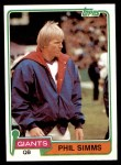 1981 Topps #55  Phil Simms  Front Thumbnail
