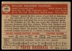 1952 Topps #391  Ben Chapman  Back Thumbnail