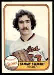 1981 Fleer #181  Sammy Stewart  Front Thumbnail