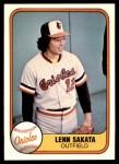 1981 Fleer #194  Lenn Sakata  Front Thumbnail