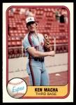 1981 Fleer #167  Ken Macha  Front Thumbnail