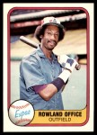 1981 Fleer #147  Rowland Office  Front Thumbnail
