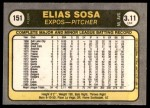1981 Fleer #151  Elias Sosa  Back Thumbnail