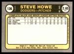 1981 Fleer #136  Steve Howe  Back Thumbnail