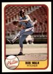 1981 Fleer #14  Bob Walk  Front Thumbnail