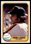 1981 Fleer #55  Frank LaCorte  Front Thumbnail