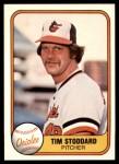 1981 Fleer #176  Tim Stoddard  Front Thumbnail