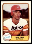 1981 Fleer #60  Jose Cruz  Front Thumbnail