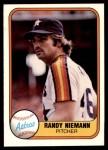 1981 Fleer #77  Randy Niemann  Front Thumbnail