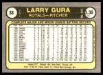1981 Fleer #38  Larry Gura  Back Thumbnail